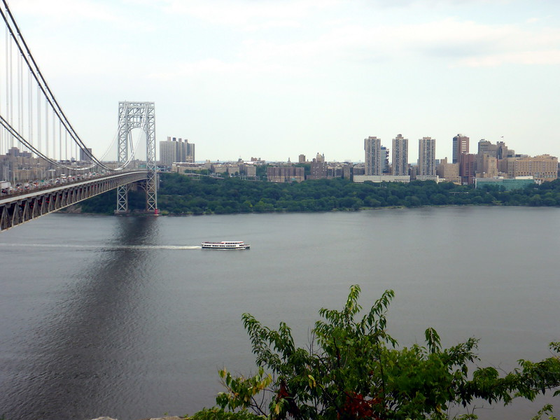 View of the GWB from Fort Lee Historical Park.
