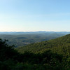 View from the Stone Church over South Gully, with the Catskill Mts in the distance.