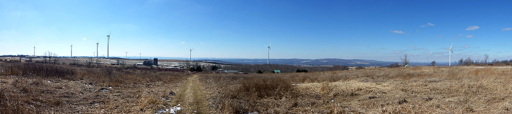 Wind farm just south of the Adirondacks - 3/6/16