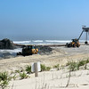 Beach construction in Surf City.
