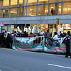 Pro-Palestine demonstration on 42nd Street, January '09.