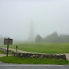 Monument on top of Mt. Greylock in the morning clouds (6/15/14).