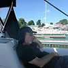 Steve snoozing in the Portside Marina at Kelley's Island, OH - 8/8/16