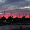 Great sunset in Huron, the evening before our sail - 8/7/16
