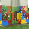 Paintings on a bridge abutment in Houma, LA.