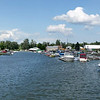 The marina in Gananoque where we picked up the houseboat.