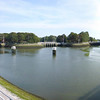 Ganzepoot (goose foot) in Nieuwpoort. Three transportation canals and three irrigation canals are joined here.