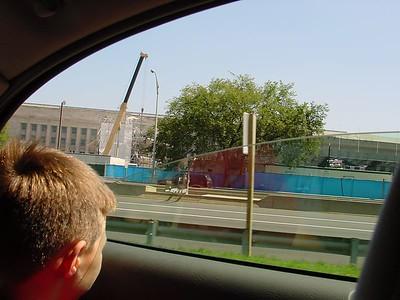 Pentagon during repair from 9/11