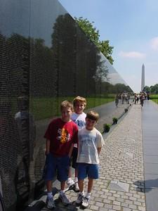 The boys at the Vietnam Memorial