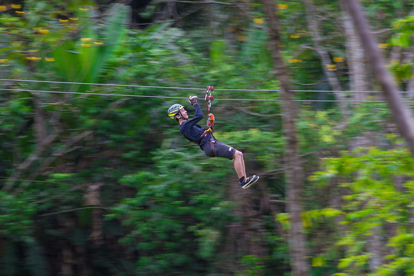 Ziplining in Belize