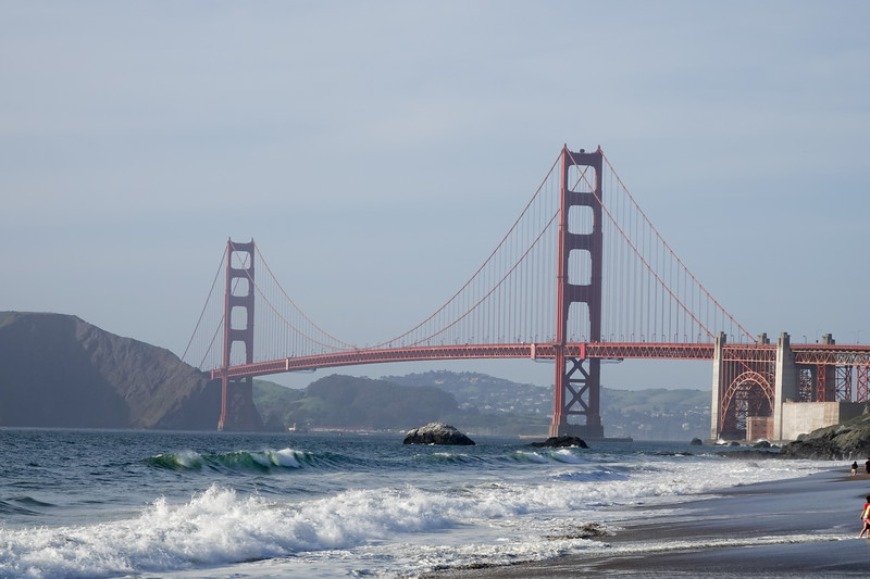 Baker Beach and Golden Gate Bridge by day