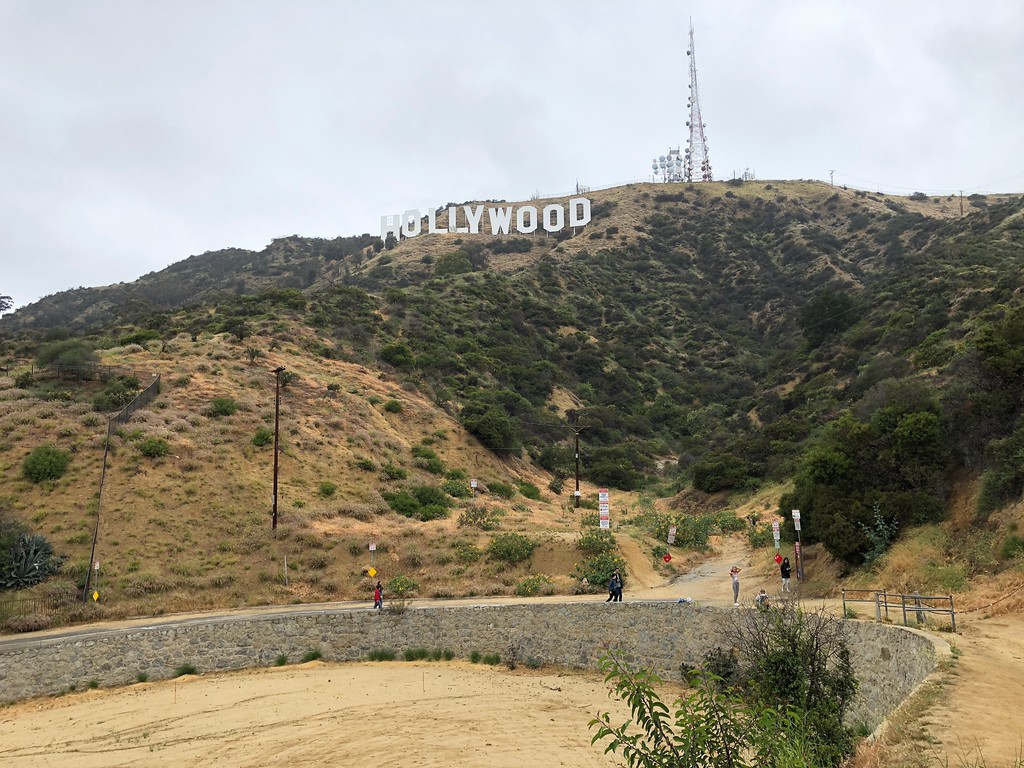 The hike that leads to the park for the view of the Hollywood Sign.