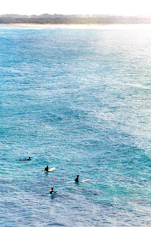 Surfers in the Water at Cabarita Beach in Australia