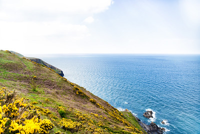 Steep Cliffs and an Ocean View at Cardigan Bay in Wales