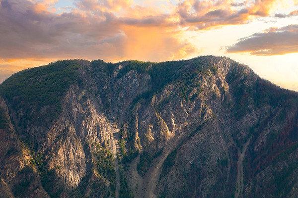 Epic Mountain Scene at Sunset in British Columbia, Canada