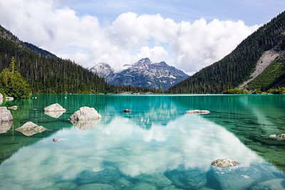Blue Waters at Upper Joffre Lake in British Columbia