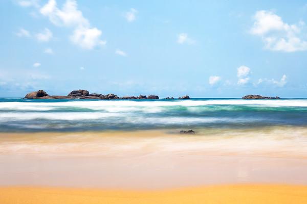A View of the Horizon Across the Indian Ocean from Hikkaduwa in Sri Lanka
