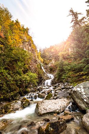 Lower Reid Falls near to Gold Rush Cemetery in Skagway, Alaska