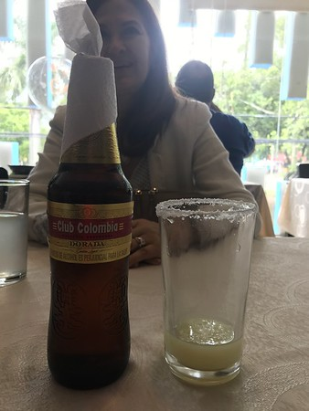 must have a Colombia michelada with lunch (made with fresh squeezed lime)