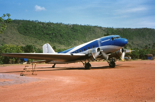 we flew on this DC-3 like Indiana Jones