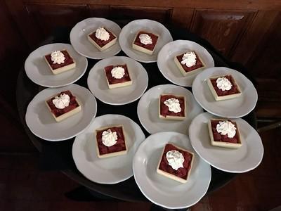 dessert at the Belhurst Castle & Winery