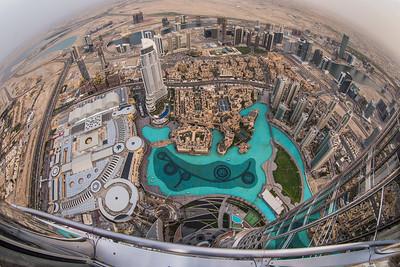 Dubai as seen from the Burj Khalifa, the tallest building in the world.