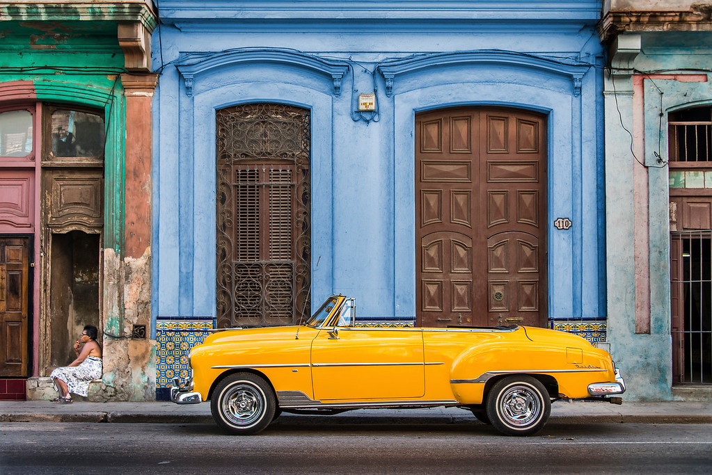 A 1950s Chevrolet Bellaire on the streets of Old Havana