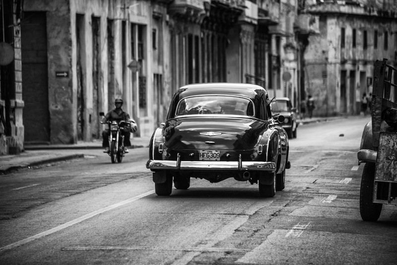An old 1950s Buick on the streets of old Havana, Cuba