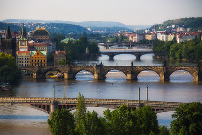 A few of five bridges, Prague, Czech Republic