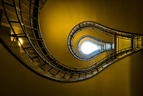 The Spiral Staircase in the Cafe Orient building in Prague, Czech Republic