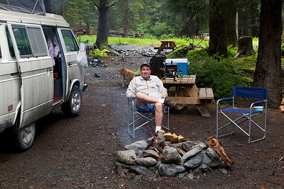 IMG_5732  Doug chilling by the campfire.
