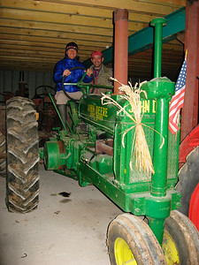 His first John Deere (March 2008)