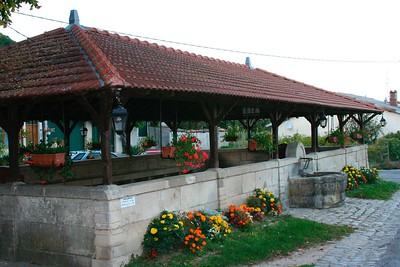 Vieville sous les Cotes is the small village in Lorraine where I went to elementary school. This is a photo of the lavoir (place where women would do laundry)