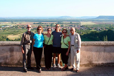 American family & view of Vigneulles