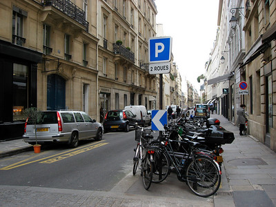 Biking for bikes are everywhere in Paris