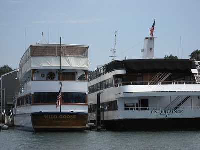 "John Wayne's 136-foot yacht, ""The Wild Goose"" was sold a month before he died in 1979.  It's now possible for you to privately charter Wayne's former pride & joy; it is now owned by Hornblower Cruises & Events."