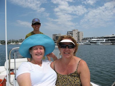 Captain Robin is doing a great job. Elizabeth & Melanie are enjoying the ride.