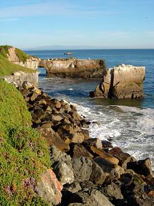 Biking along the cliff in Santa Cruz
