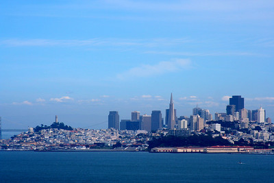 Photo taken on a previous trip when the weather was clear (view from the other side of the Golden Gate)