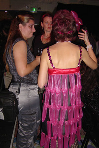 condom dress: 7th Sense Fashion Show