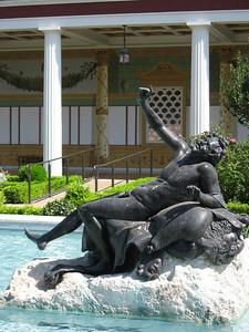 Bronze sculpture, replica of statues found at the Villa dei Papiri