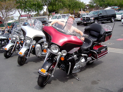 Georgette and a big Harley