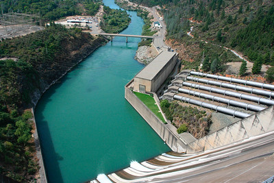 4th largest hydroelectric plant in California, and the largest non-pumped-storage plan. http://en.wikipedia.org/wiki/Shasta_Dam