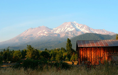 Mt Shasta at sunset