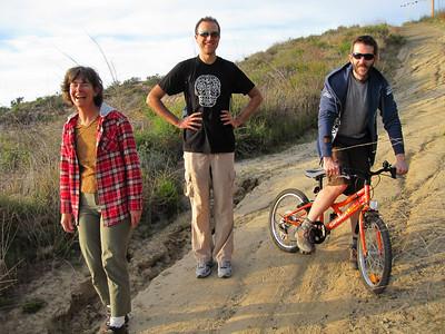 Roland on Julian's bike