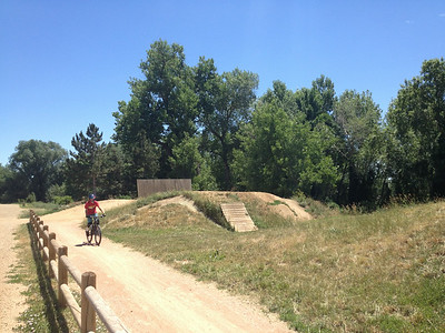 For more experienced riders: dirt jumps