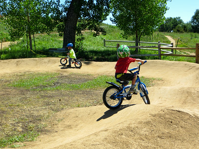 Even kid on a strider wants to ride in the Pump park
