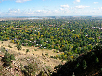 view of Boulder from Salinas Peak