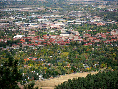 view of the university  http://www.colorado.edu/
