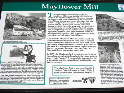 During high season, guided tours are offered at the Mayflower Mill, two miles northeast of Silverton.  http://ebussilvertonws.ebusbuilder.com/index.asp?documentid=272